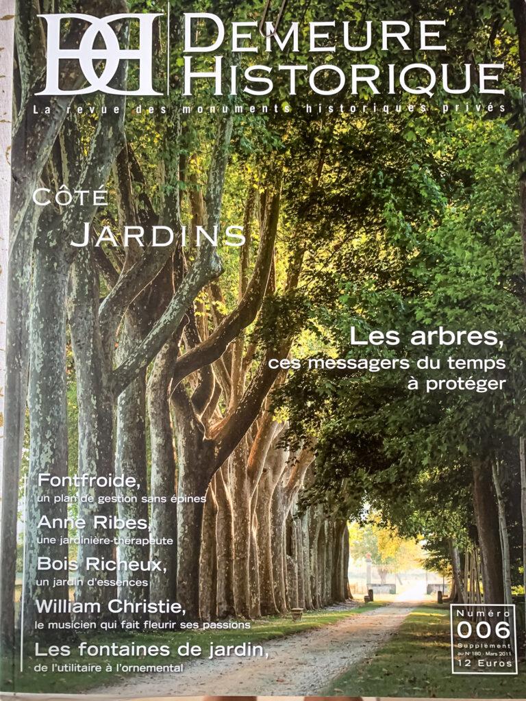 Publication of my photo work in Demeure Historique magazine
