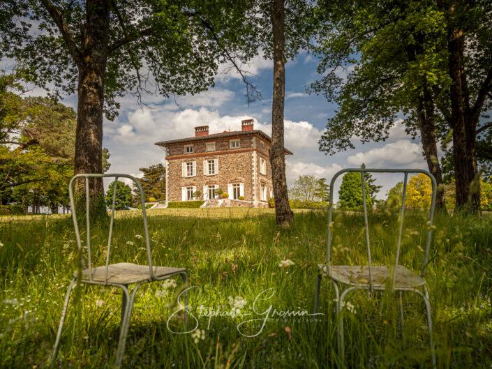 Reportage photo sur le Château l'Auneau à Saint-Hilaire-le-Vouhis en Vendée, Jardin remarquable, Villa-Castel du XIXe.